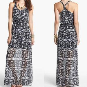 DEE ELLE Black & WHITE HALTER MAXI Dress